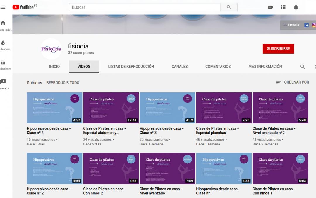"""Clases Online """"FisioDía en casa"""" durante la cuarentena"""